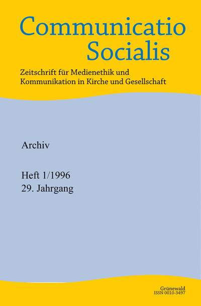 Communicatio Socialis (ComSoc ) Cover