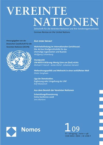 VN Vereinte Nationen Cover