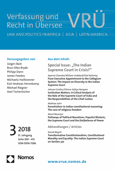 Jahnavi Sindhu, Vikram Aditya Narayan - Institution Matters: A Critical Analysis of the Role of the Supreme Court of India and the Responsibilities of the Chief Justice