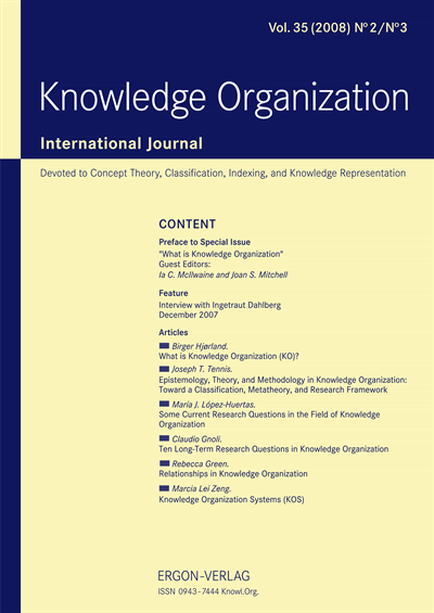 Joseph T. Tennis - Epistemology, Theory, and Methodology in Knowledge Organization: Toward a Classification, Metatheory, and Research Framework