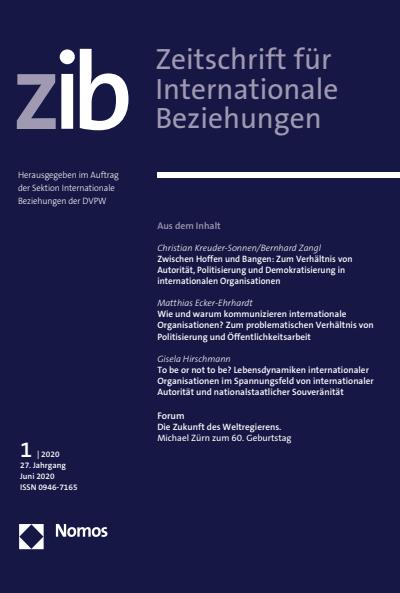 Zwischen Hoffen Und Bangen Zum Verhaltnis Von Autoritat Politisierung Und Demokratisierung In Internationalen Organisationen Ebook 2020 0946 7165 Nomos Elibrary