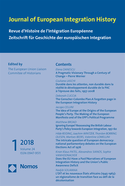 JEIH Journal of European Integration History