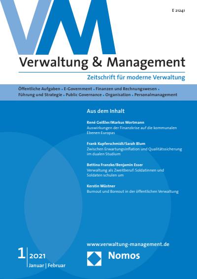 Titelseite VM Verwaltung & Management, Jahrgang 27 (2021), Heft 1