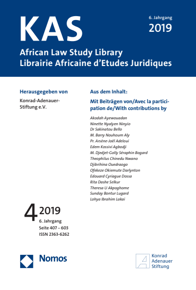 KAS African Law Study Library Cover