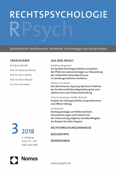 RPsych Rechtspsychologie Cover