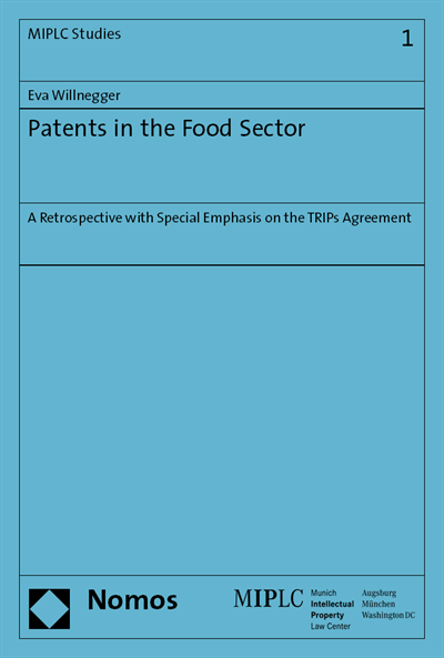 Patents In The Food Sector Volume 2008 Issue Nomos Elibrary