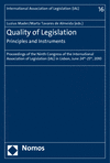 Luzius Mader, Marta Tavares de Almeida - Quality of Legislation - Principles and Instruments
