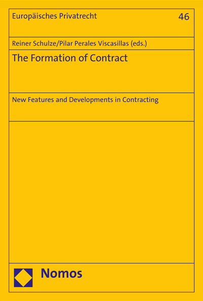 Nomos - eLibrary | The Formation of Contract