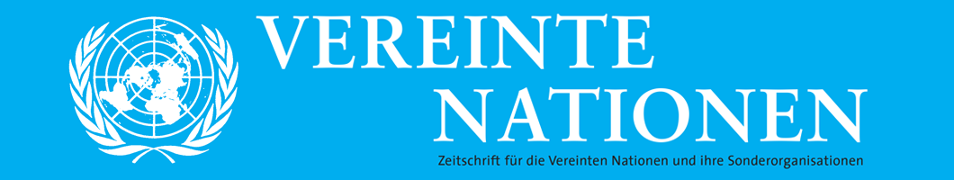 Zeitschrift für die Vereinten Nationen und ihre Sonderorganisationen | German Review on the United Nations Banner