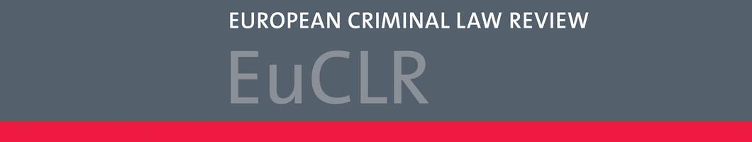 European Criminal Law Review Banner